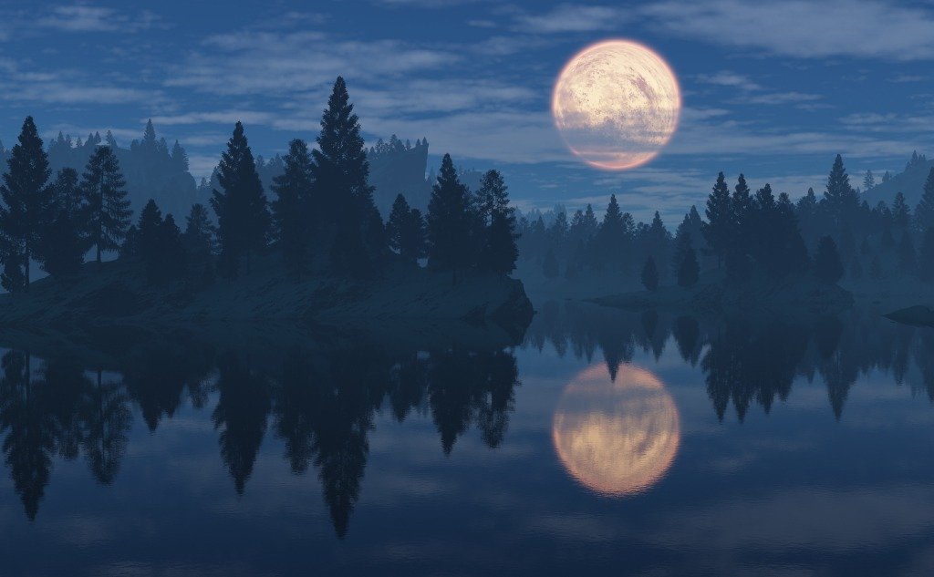 April pink moon.