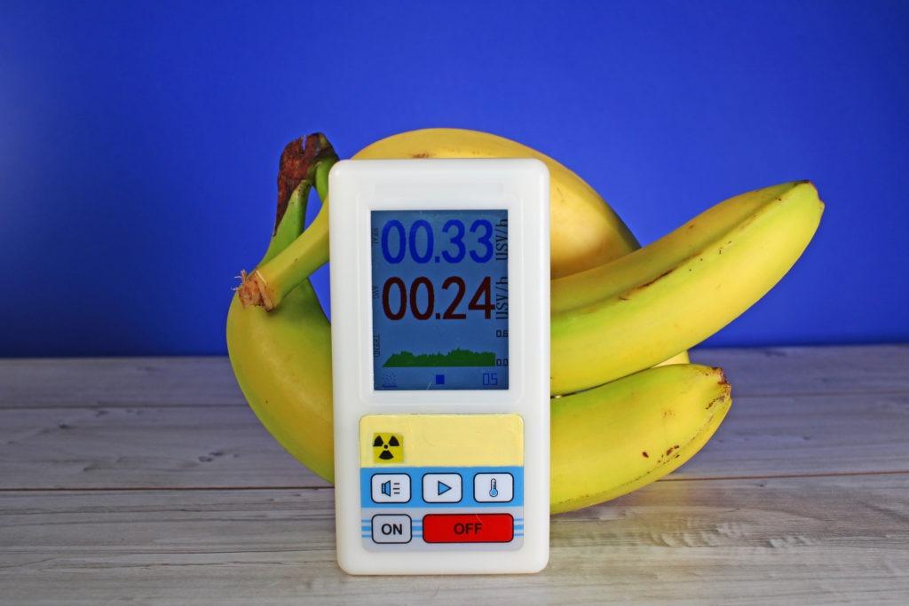 Banana radiation test measurement.