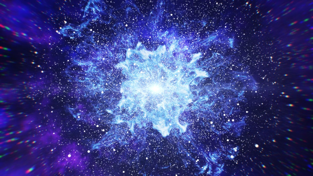 Big Bang in space.