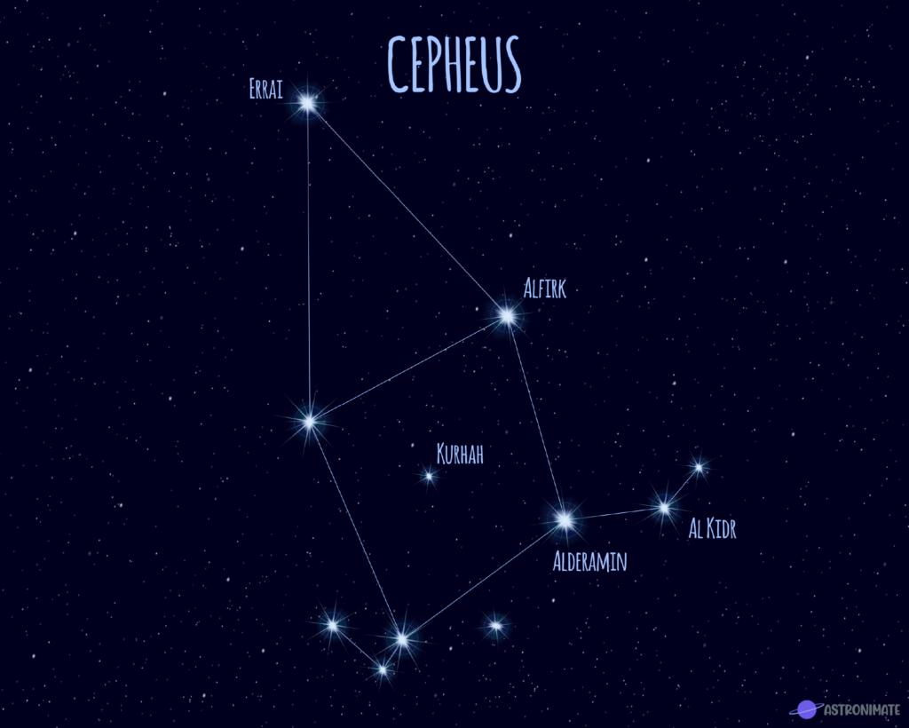 Cepheus star constellation.