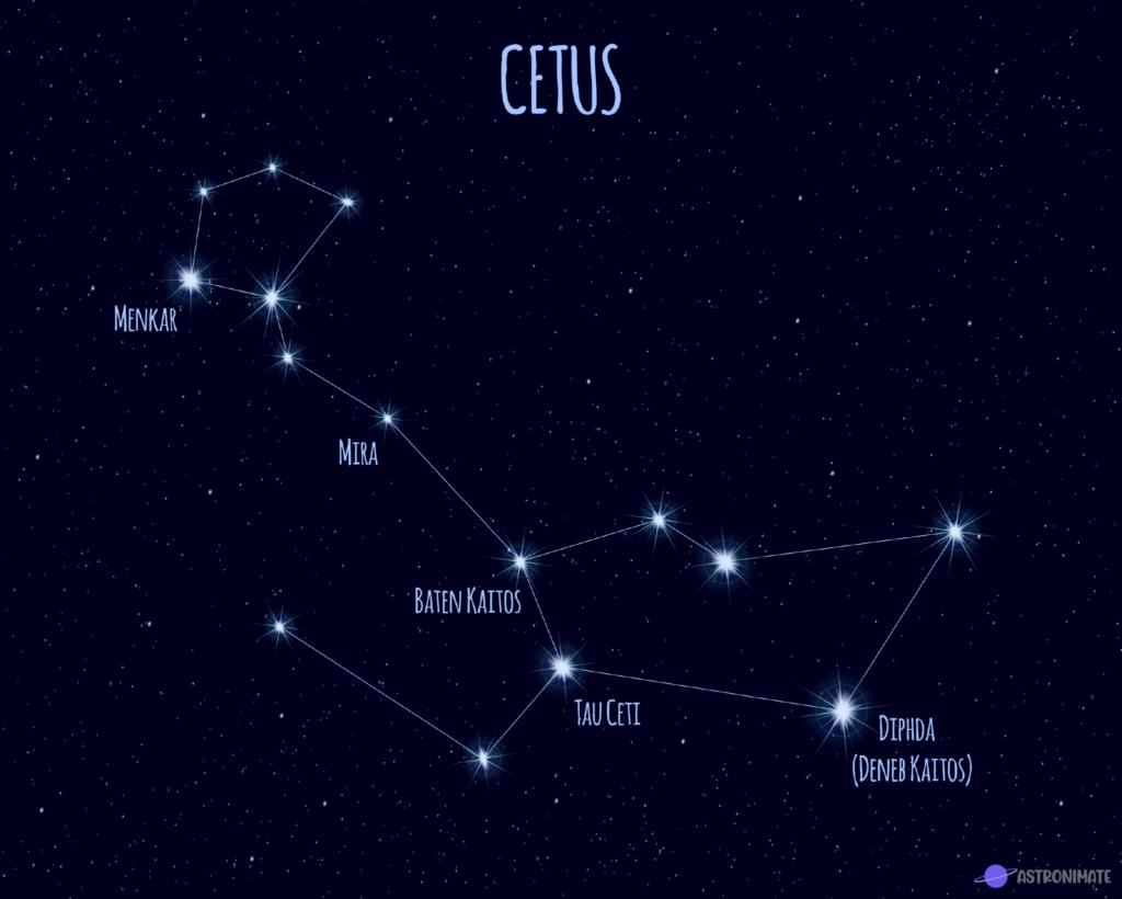 Cetus star constellation.