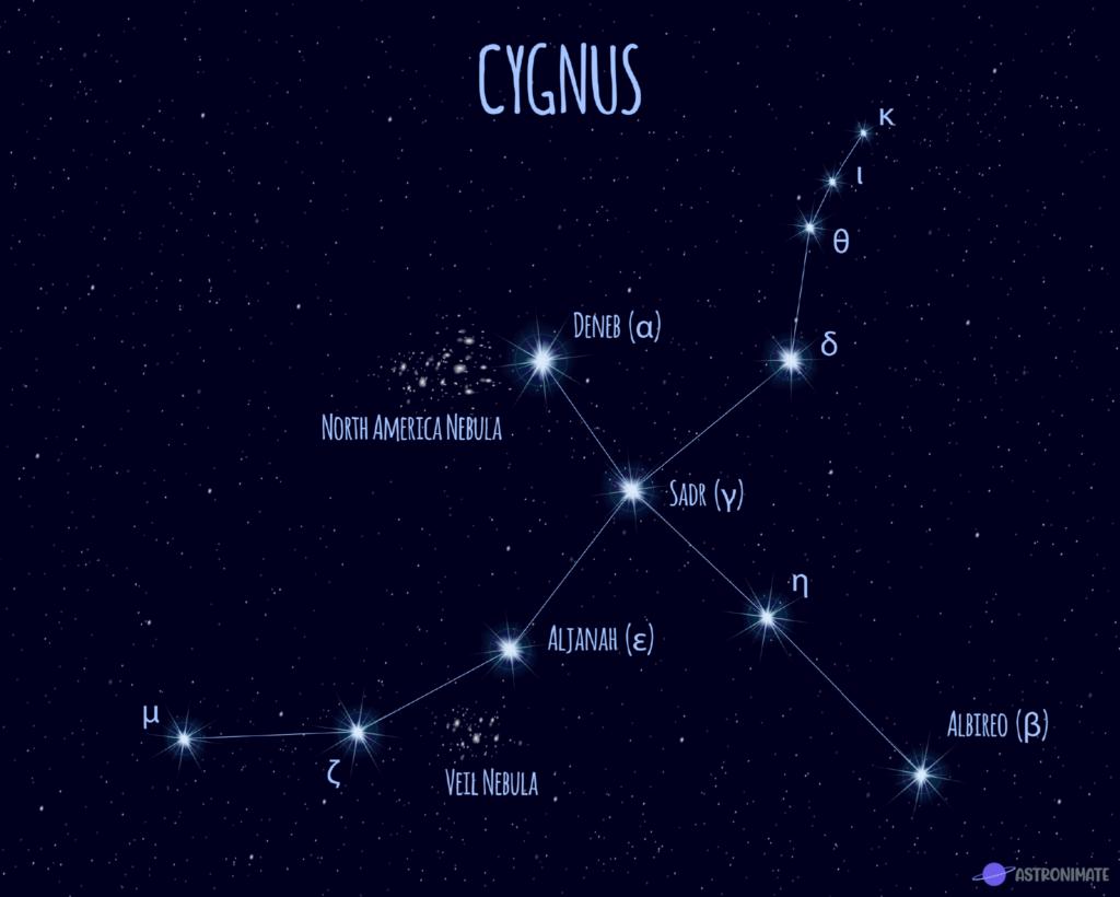 Cygnus star constellation.