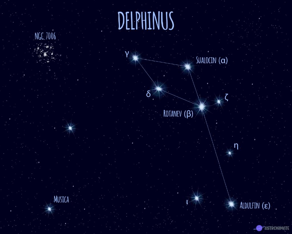 Delphinus star constellation.