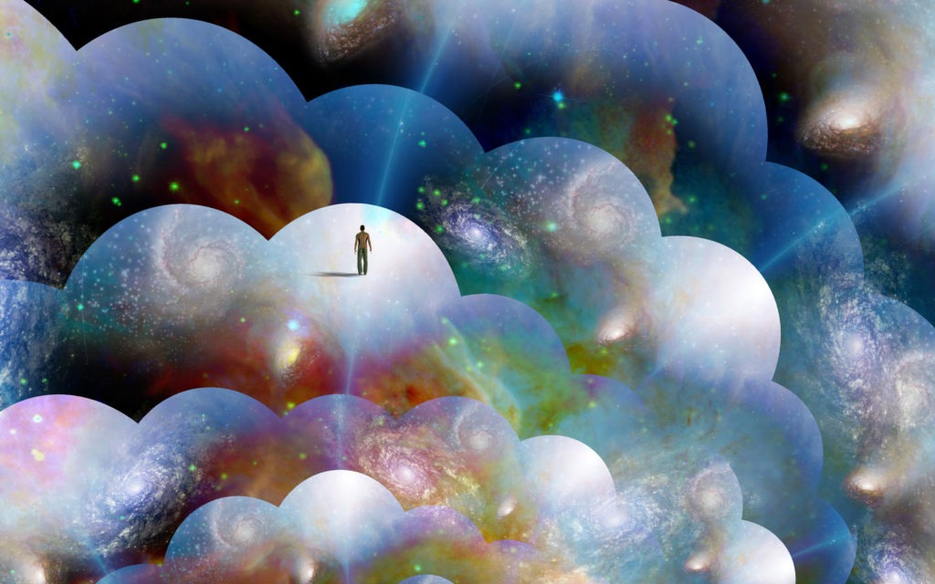 Exploring the multiverse illustration.