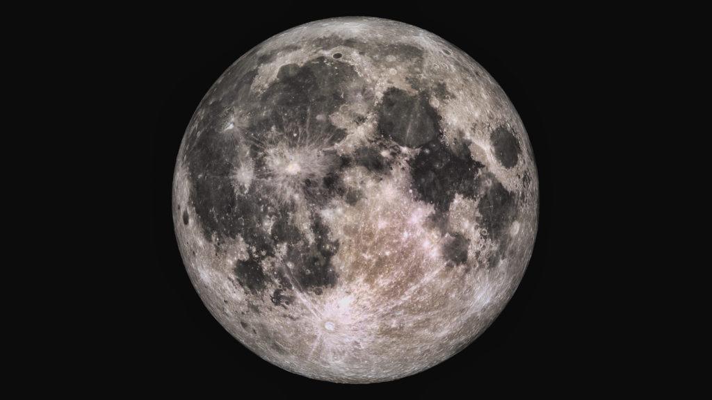 Wonderful super detailed full Moon.