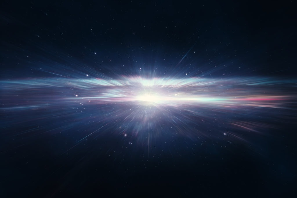 Gradient star explosion in deep space.