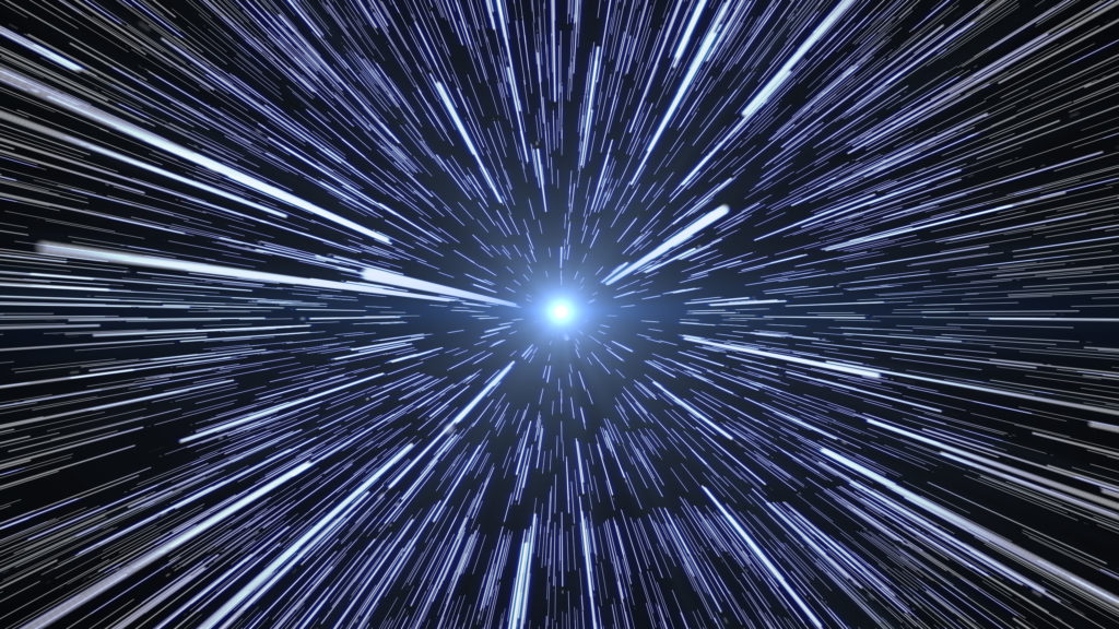 Hyperspace stars travel.