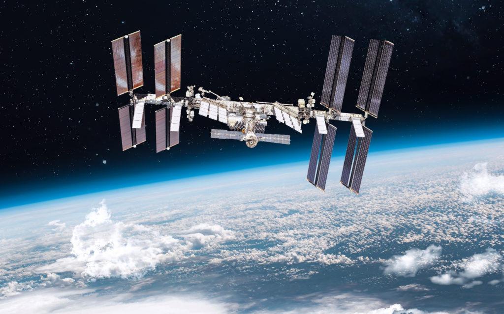 International space station on Earth's orbit.