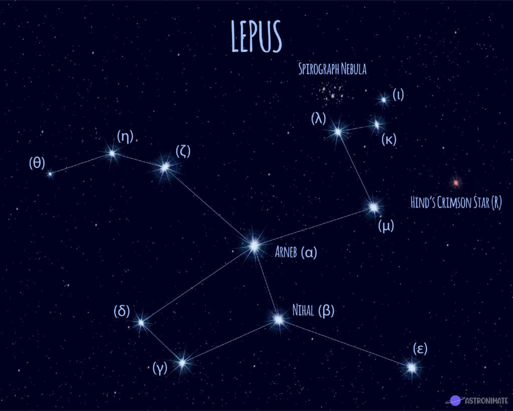 Lepus star constellation.