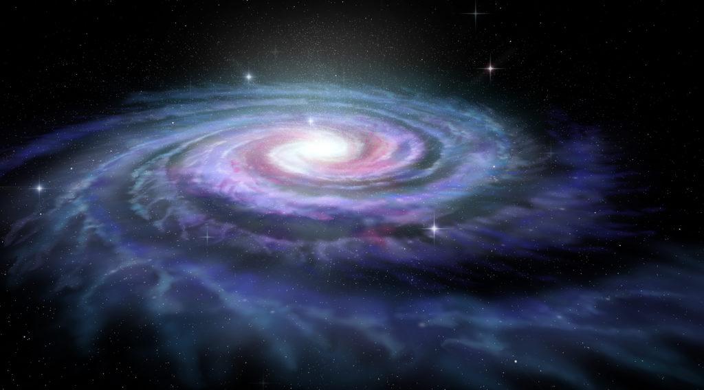 Spiral Milky Way galaxy.