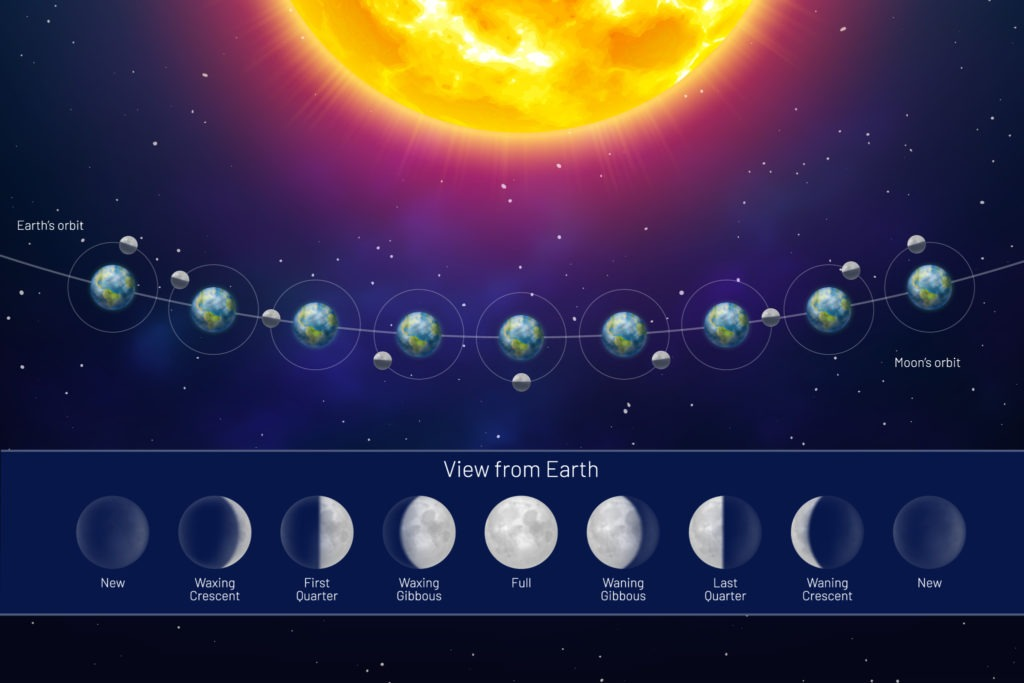 What the moon phases causes explained.