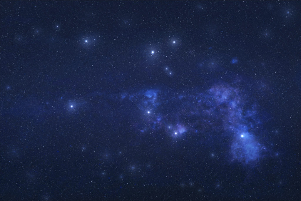 Pegasus constellation in outer space.