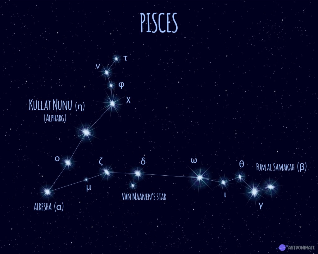 Pisces star constellation.