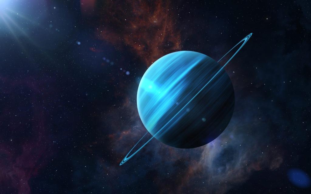 Planet Uranus tilt.