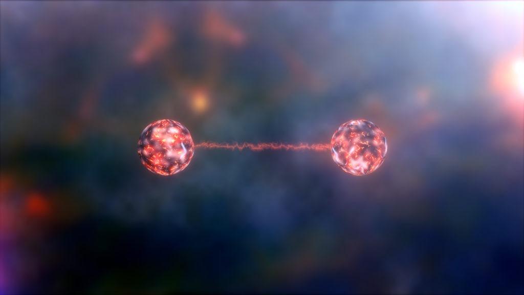 Conceptual illustration of quantum entanglement.