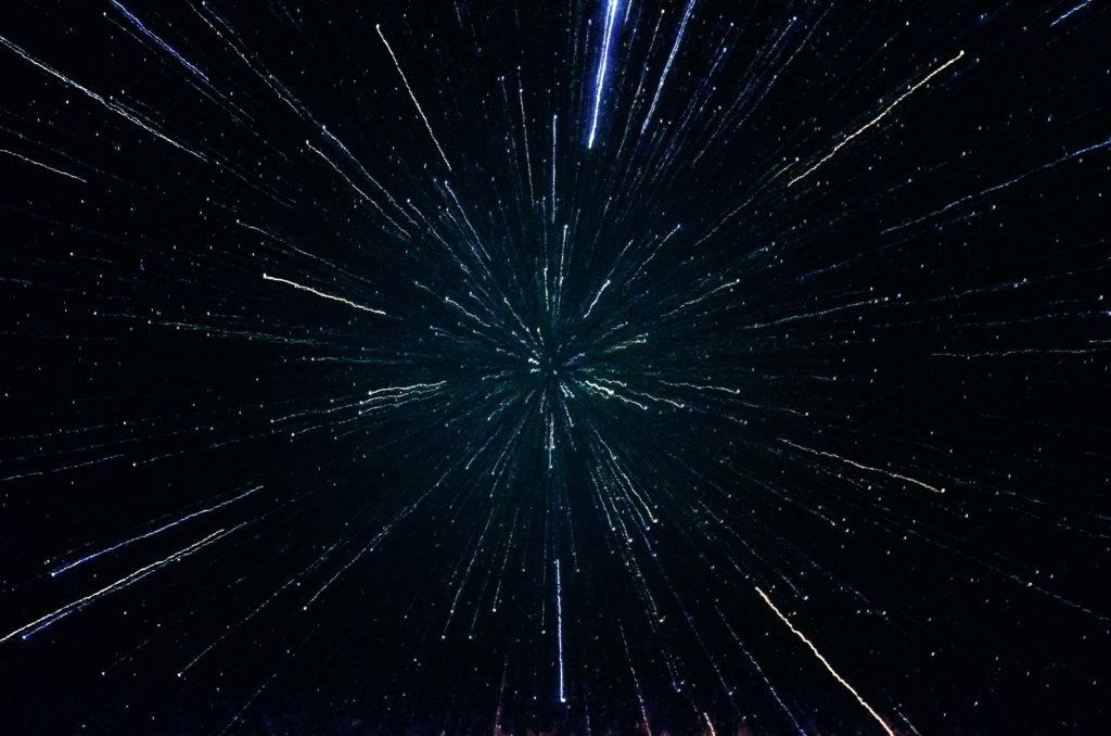 Stars galaxy zoom effect.