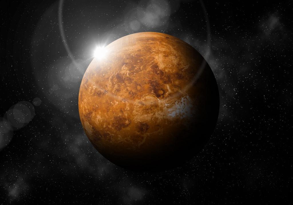 Venus in dark space.