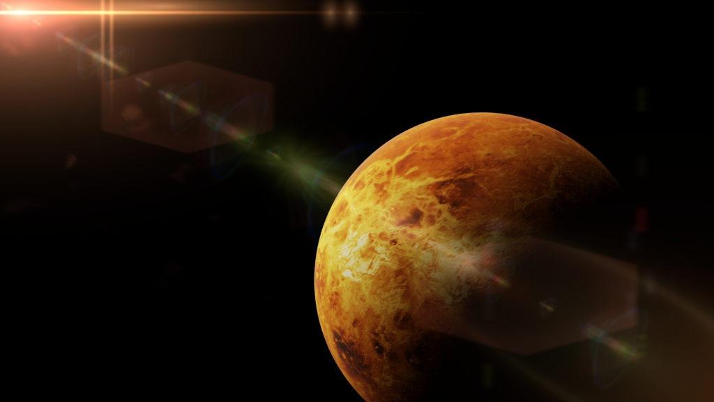 Venus in front of the bright Sun.