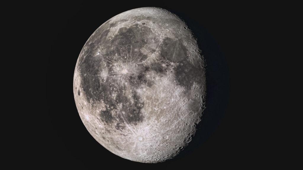 Wonderful super detailed waning gibbous Moon.