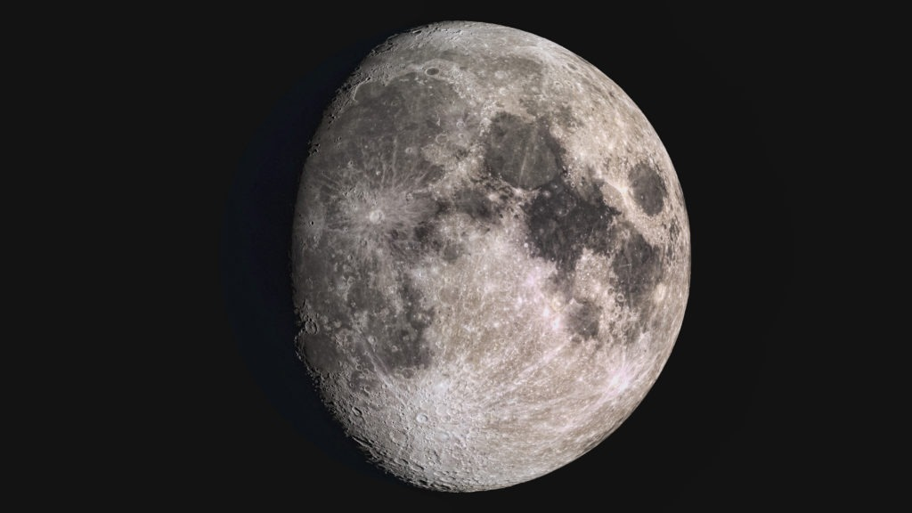 Wonderful super detailed waxing gibbous Moon.